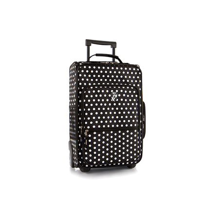 Kids Softside Luggage - Black/White Dots