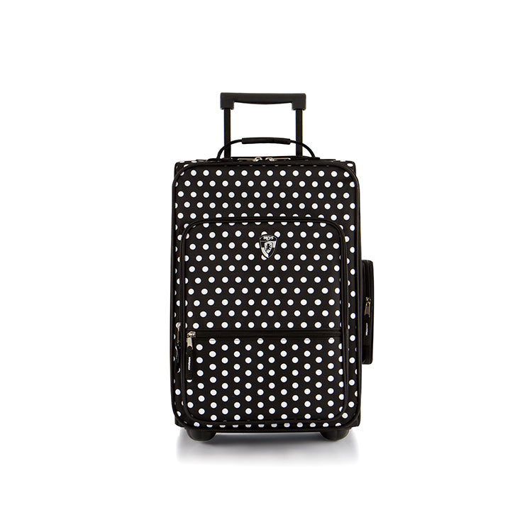 Kids Fashion Luggage - Black/White Dots