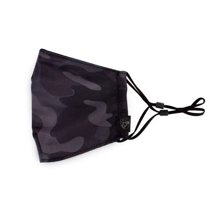 Reusable Face Masks - Black Camo 2 Pack
