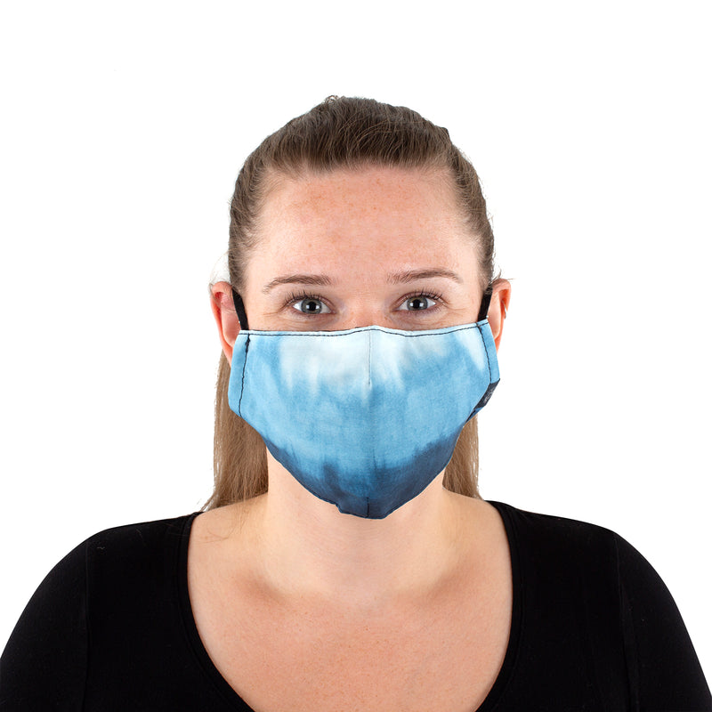 Reusable Face Masks - Blue Tie-Dye 2 Pack