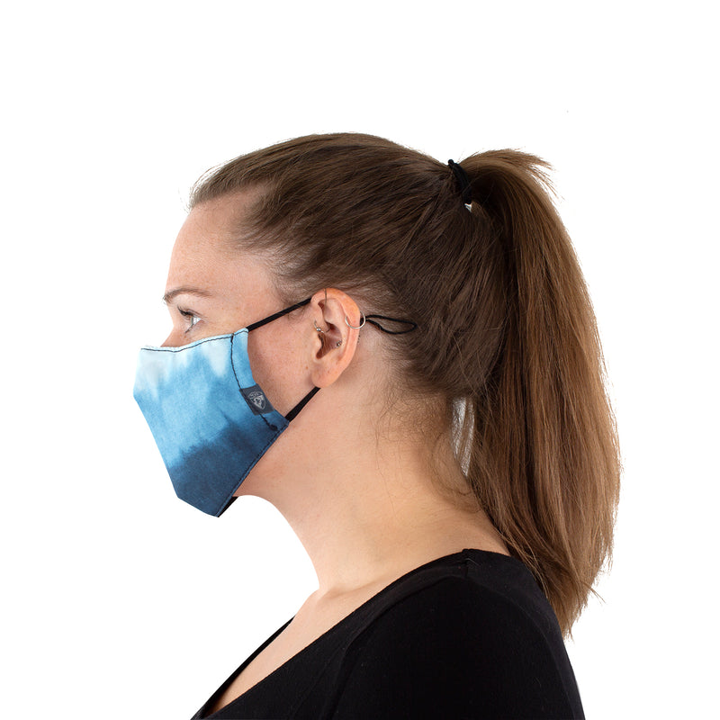 Reusable Face Mask - Blue Tie-Dye