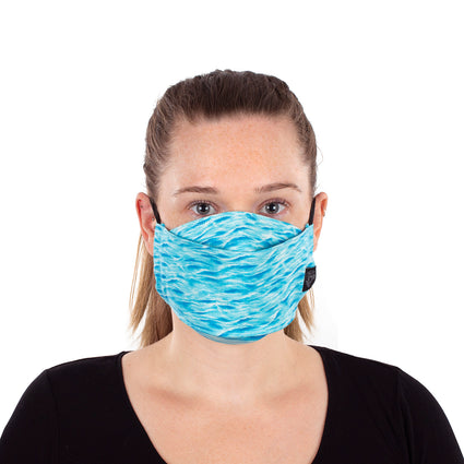 Reusable Fashion Face Mask - Blue Wave