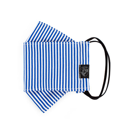 Reusable Fashion Face Mask - Blue/White Stripes