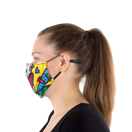 Reusable Face Masks - Britto New Day and Black