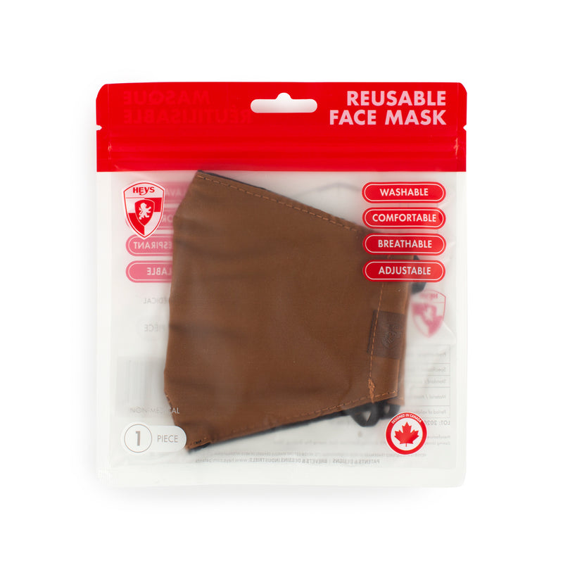 Reusable Face Masks - Brown 2 Pack