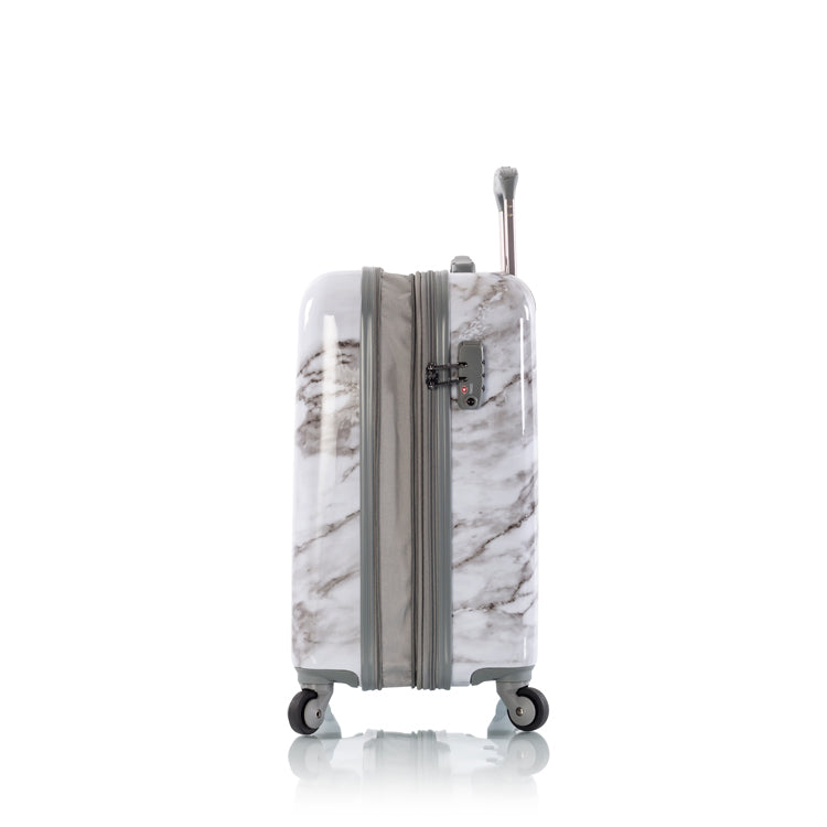 "Carrara - White Marble 21"" Fashion Spinner® Carry-on"