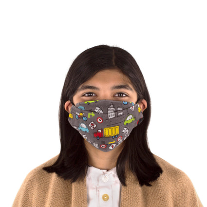 Kids Reusable Fashion Face Mask - Cars