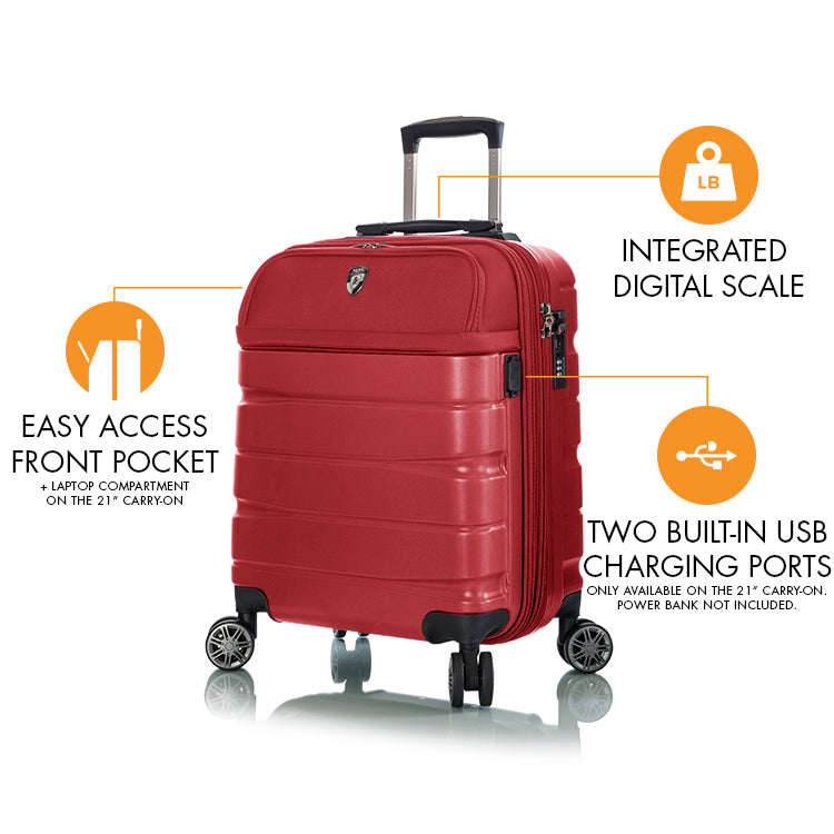 charge a weigh 21 carry on heys luggage heys ca