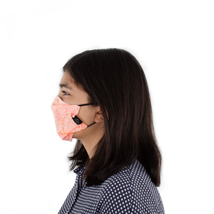 Kids Reusable Fashion Face Mask - Coral Flower