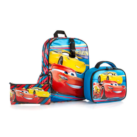 Disney Backpack with Lunch bag AND Pencil Case - Cars (D-BST-C04-17BTS)
