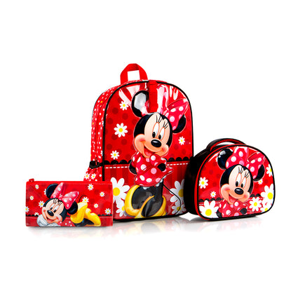 Disney Backpack with Lunch bag and Pencil Case - Minnie (D-BST-MN02-18BTS)