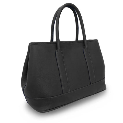 Hint of Brit Horizontal Tote - Black