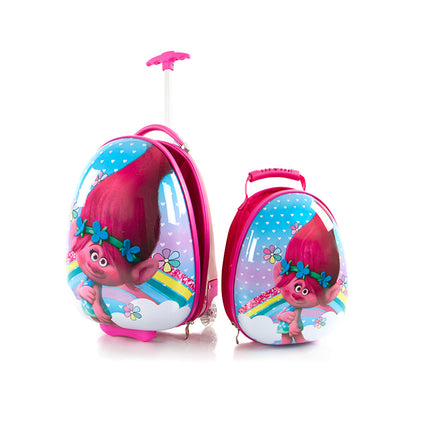 DreamWorks Kids Backpack and Luggage Set - Trolls - (DW-HSRL-ES-ST-TR08-18AR)