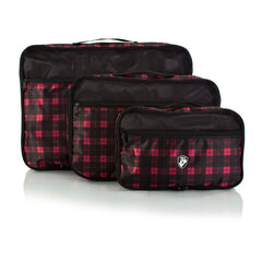 Exotic 3pc Packing Cube Set - with Front Zippered Pocket