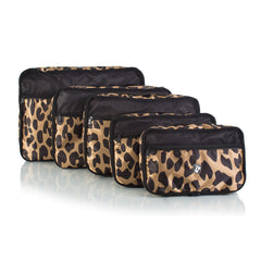 Exotic 5pc Packing Cube Set - with Front Zippered Pocket