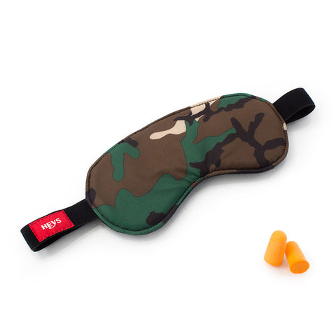 Camo Eye Shade & Ear Plug Set