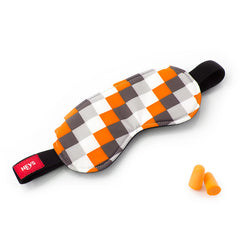 Orange Check Eye Shade & Ear Plug Set