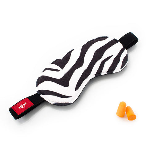 Zebra Eyeshade & Ear Plug Set