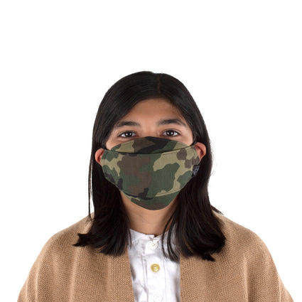 Kids Reusable Fashion Face Mask - Green Camo