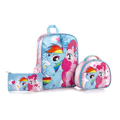 My Little Pony Backpack with Lunch Bag AND Pencil Case - (H-BTS-MP03-17BTS)