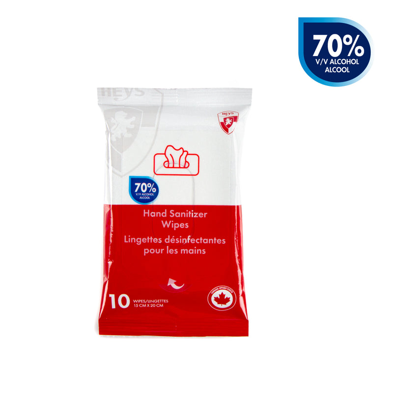 Sanitizer Wipes 70% Alcohol- 5 Packs x 10