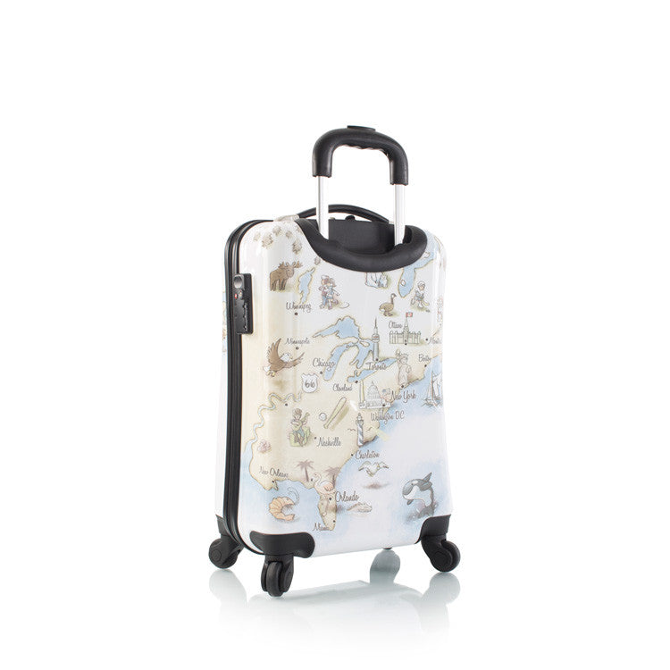"Illustrated Map 21"" Fashion Spinner® Carry-on"