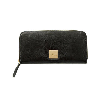 Jewels of Serendib Large Zippered Wallet - Black Moonstone