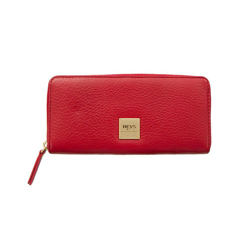 Jewels of Serendib Large Zippered Wallet - Ruby