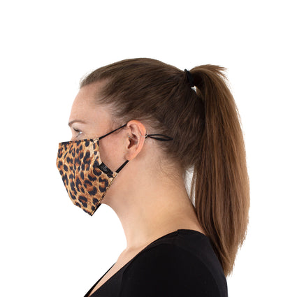 Reusable Face Masks - Leopard 2 Pack