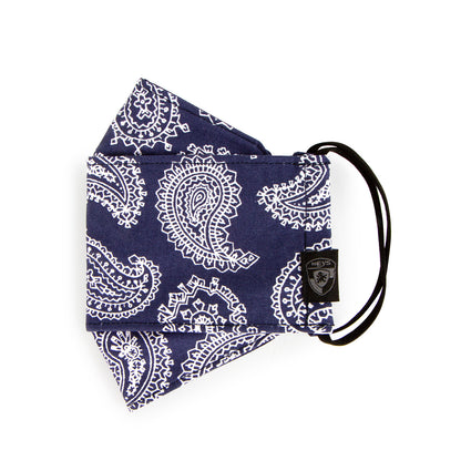 Reusable Fashion Face Mask - Navy Paisley