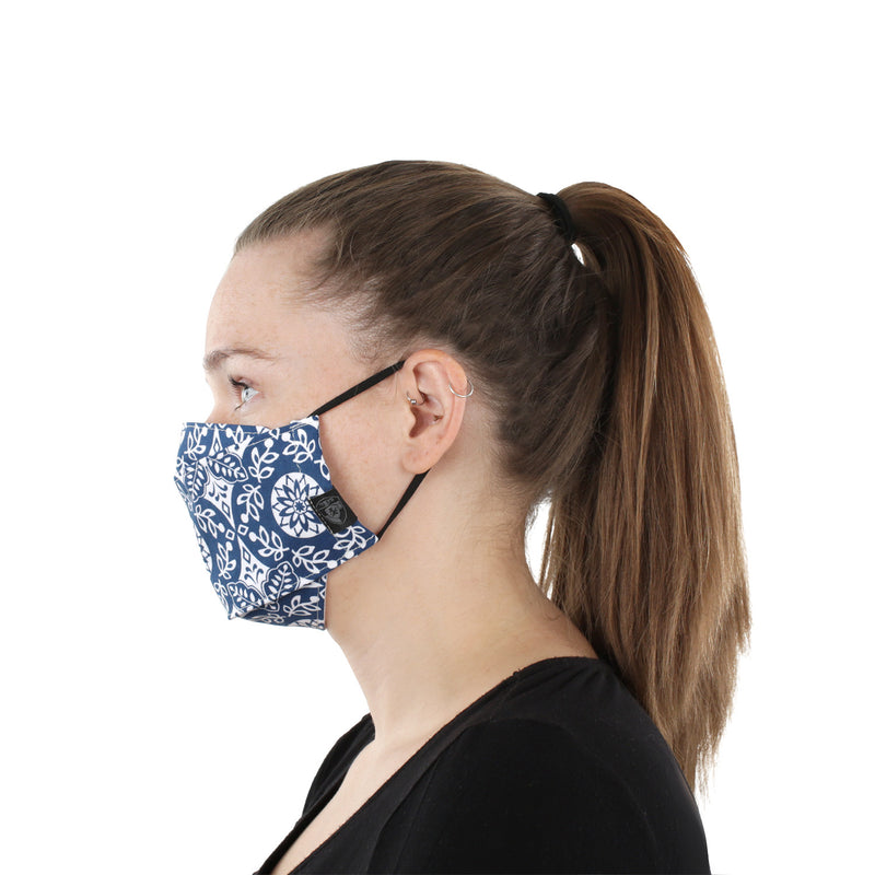 Reusable Fashion Face Mask - Navy Floral
