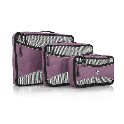 Ecotex 3 pc Packing Cube Set™ with Front Zippered Pocket
