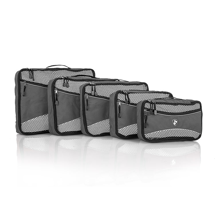 Ecotex 5 pc Packing Cube Set™ with Front Zippered Pocket