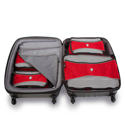 EARTH DAY FLASH SALE - Ecotex 5 pc Packing Cube Set™ with Front Zippered Pocket