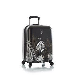 "Oasis Black/Gold Leaf 21"" Fashion Spinner® Carry-on"