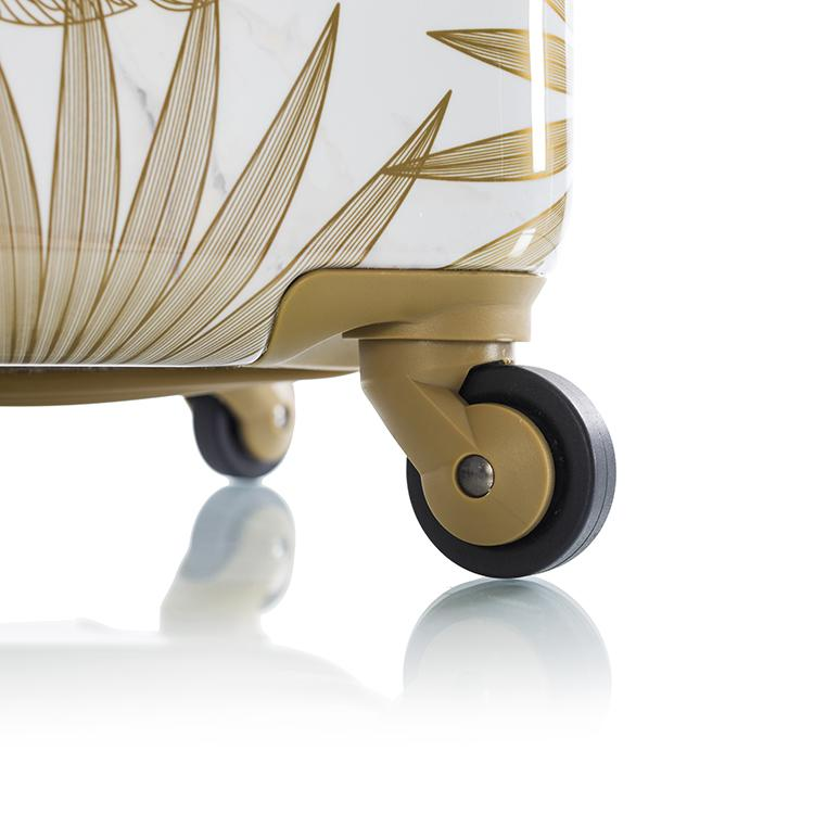 "Oasis White/Gold Leaf 21"" Fashion Spinner® Carry-on"