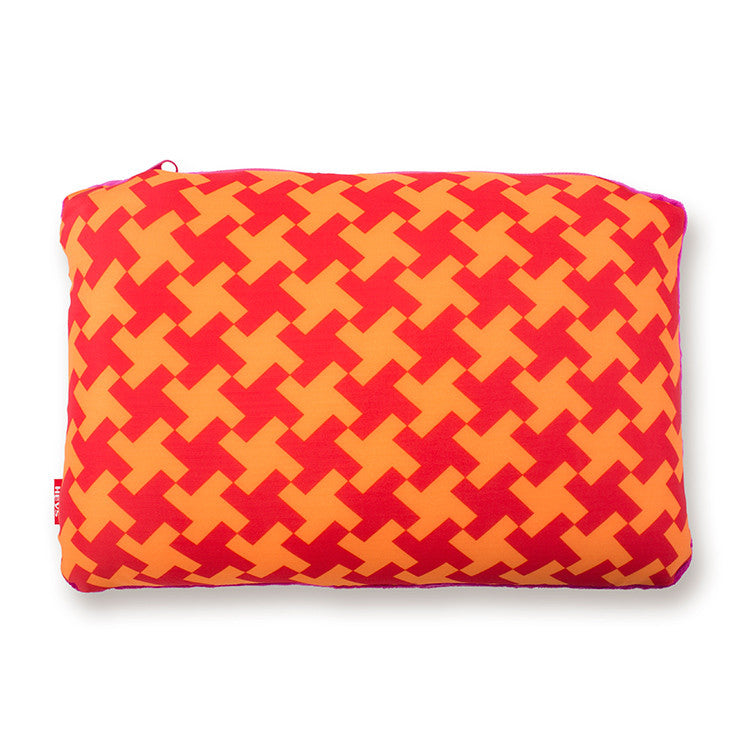 Basketweave 2-in-1 Travel Pillow