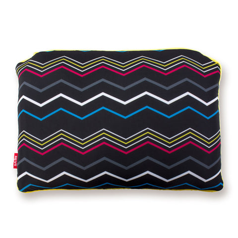 CMYK Zig-Zag 2-in-1 Travel Pillow