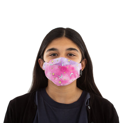 Kids Reusable Fashion Face Mask - Pink Sky