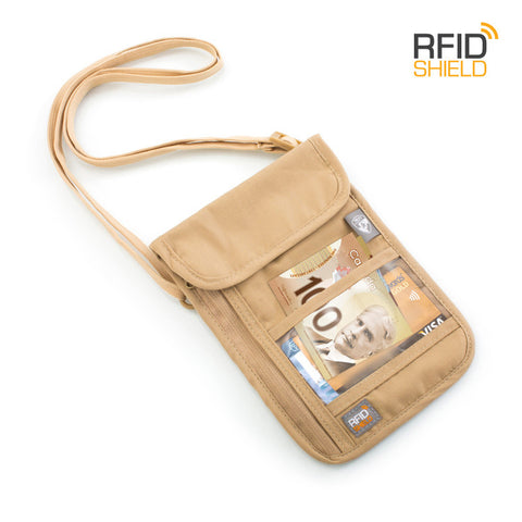 RFID Blocking Neck Wallet