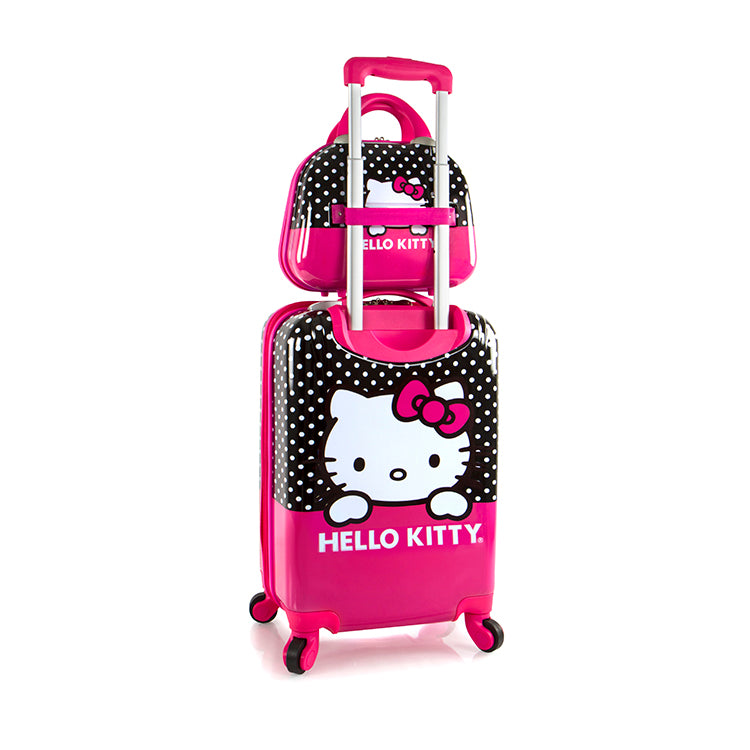Hello Kitty Luggage and Beauty Case 2 pc. Set (S-HSRL-ST-HK15-17AR)