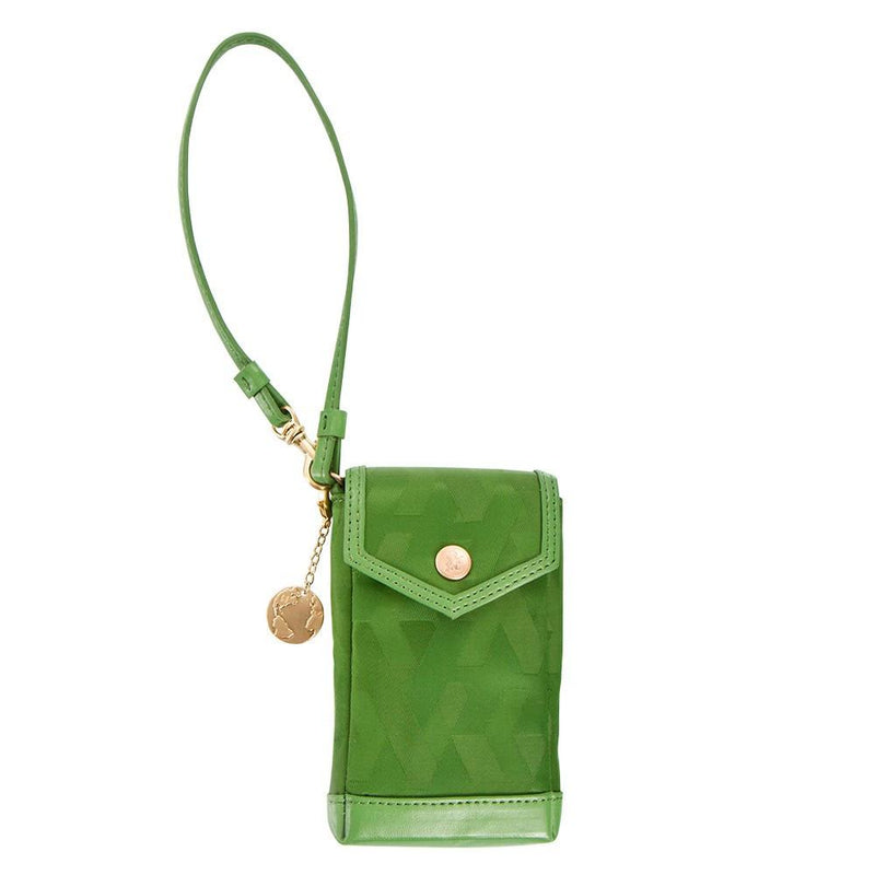 Signature Jacquard Phone Holder - Green