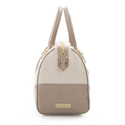 Soho Classic Two-Tone Small Satchel - Bone/Taupe