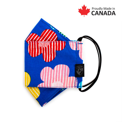 Reusable Fashion Face Mask - Striped Floral