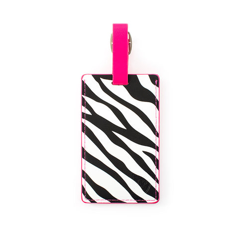 Zebra Luggage Tag