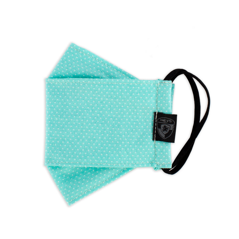 Kids Reusable Fashion Face Mask - Green Polka Dots
