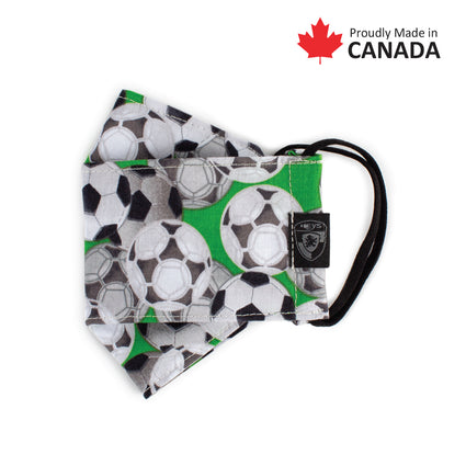 Kids Reusable Fashion Face Mask - Soccer