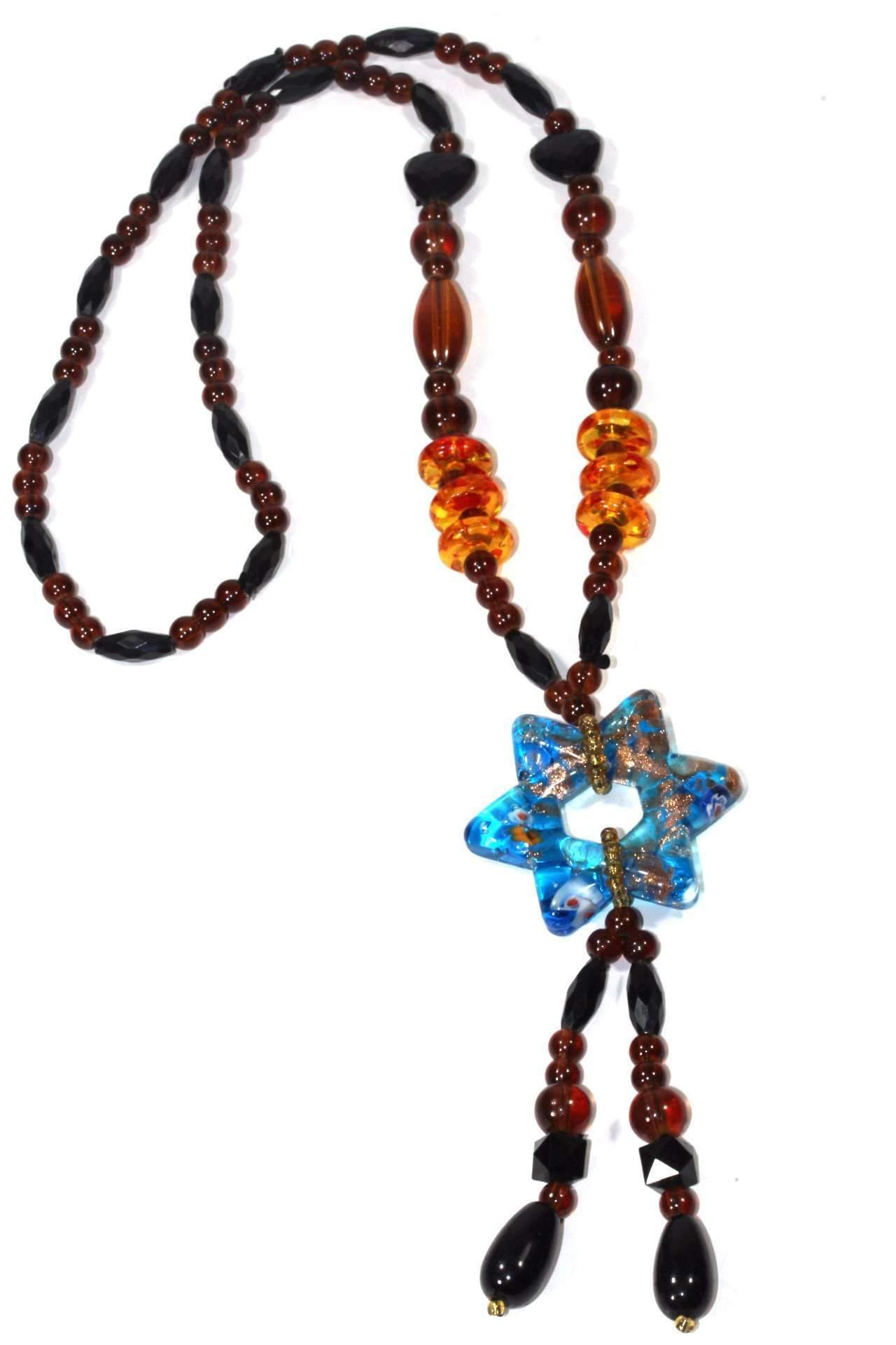 Star Pendant Gypsy Style Shimmer Necklace