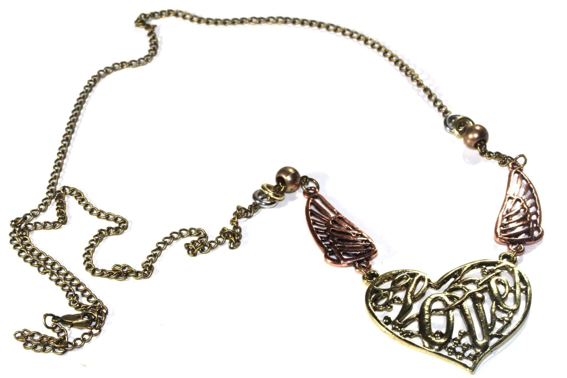 Soaring Love & Angel Wings Necklace