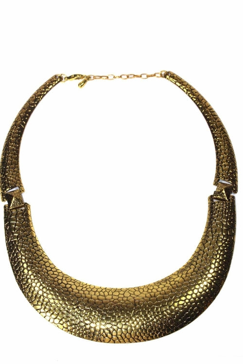 Snake Skin Design Choker Necklace Set